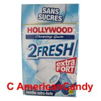 Hollywood 2Fresh Chewing Gum Parfum Menthe Extra-Forte