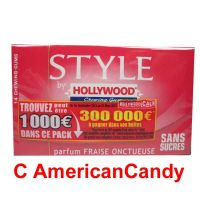Hollywood Style Gum Fraise