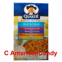 Quaker Instant Oatmeal Fruit & Cream Variety 350g