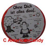 """Sheepworld Fruchtgummi """"Ohne Dich ist alles doof!"""""""